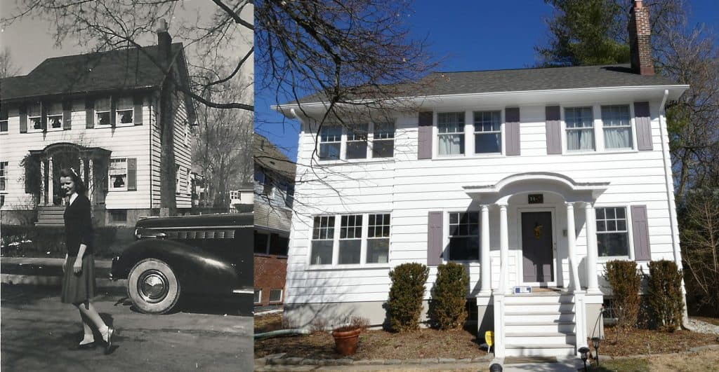 House at 11 Godfrey Road in 1940 and 2019