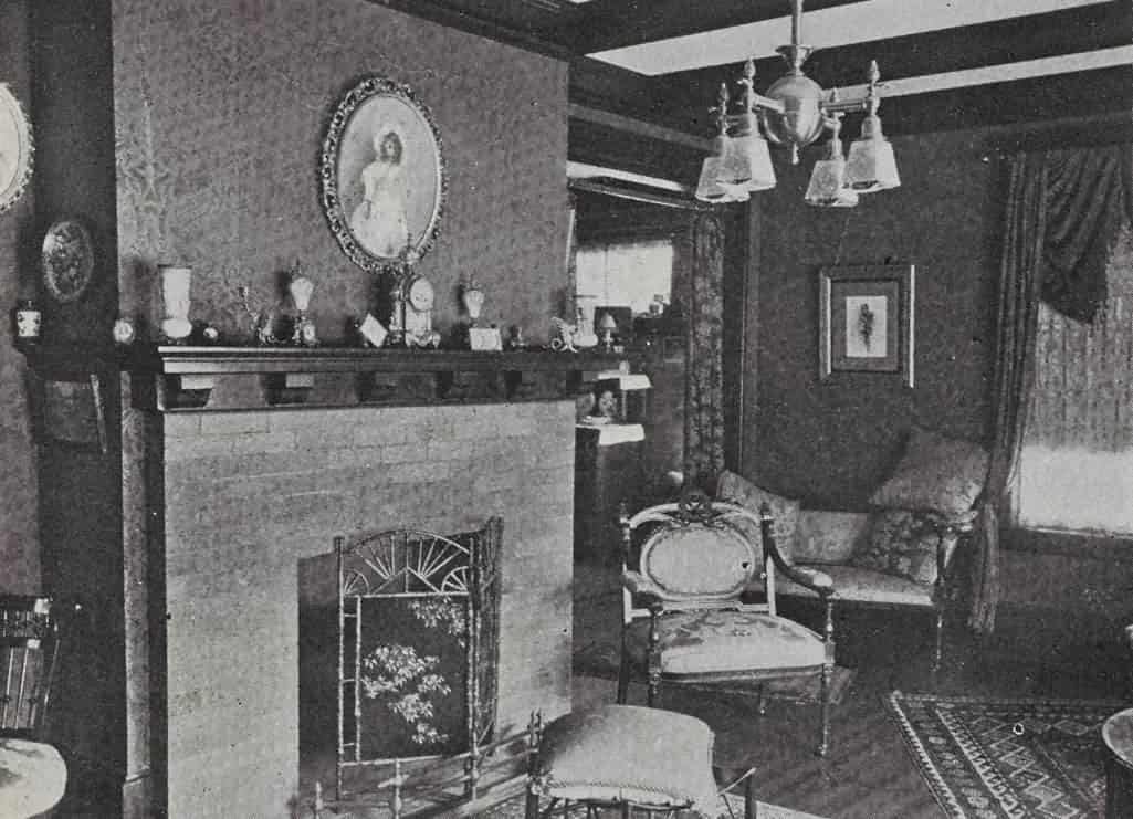 Brandon living room, c. 1910