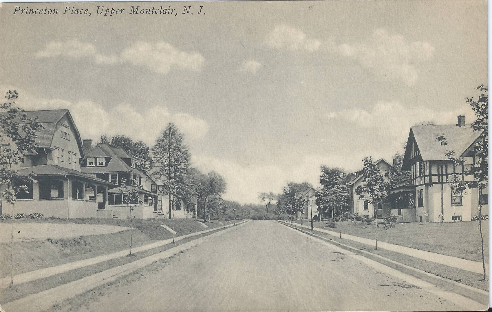 Postcard of Princeton Place, looking north from Godfrey Road. Interstate Publishing Company, New York, N.Y. Postmarked June 30, 1916.