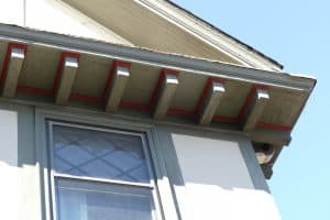 Eave brackets on the house at 16 Godfrey Road