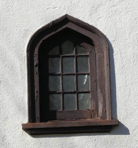 Upper floor window at 17 Godfrey Road