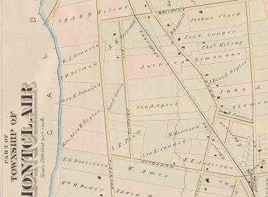 1881 Oakcroft Area Map