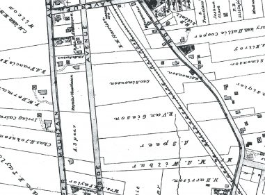 1890 Oakcroft Area Map