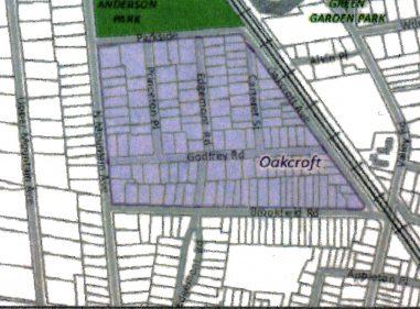 2016 Oakcroft Area Map