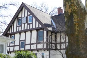 Tudor half timber at 7 Princeton Place
