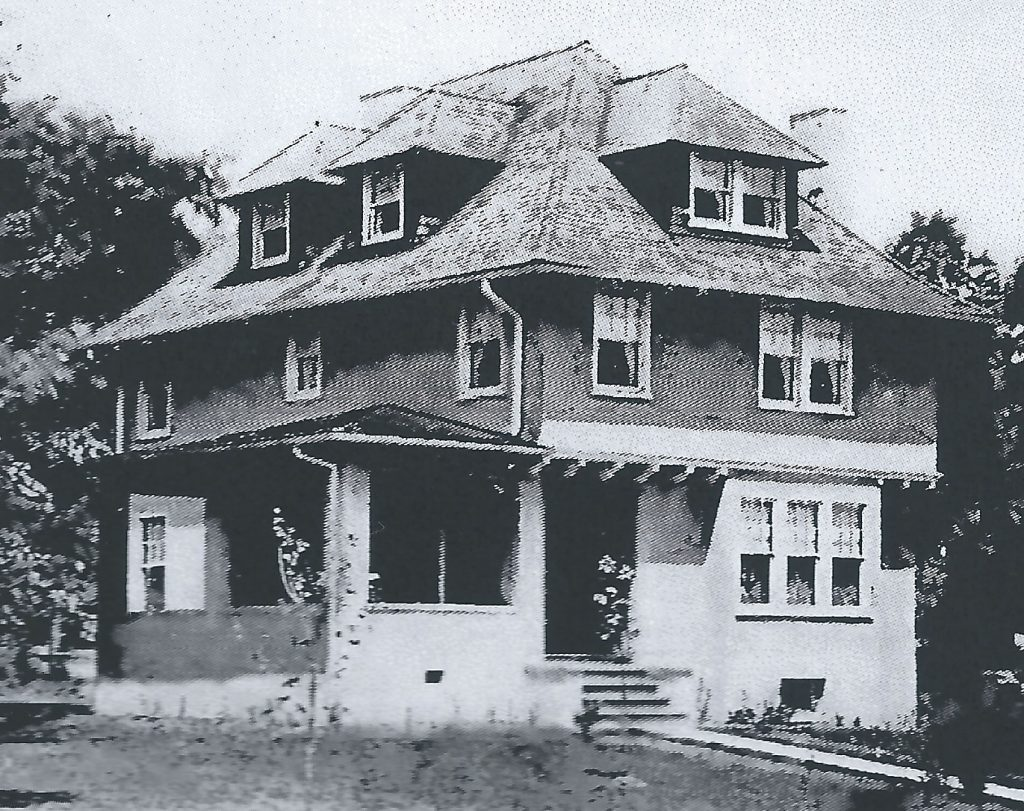 Old photo of house at 18 Princeton Place