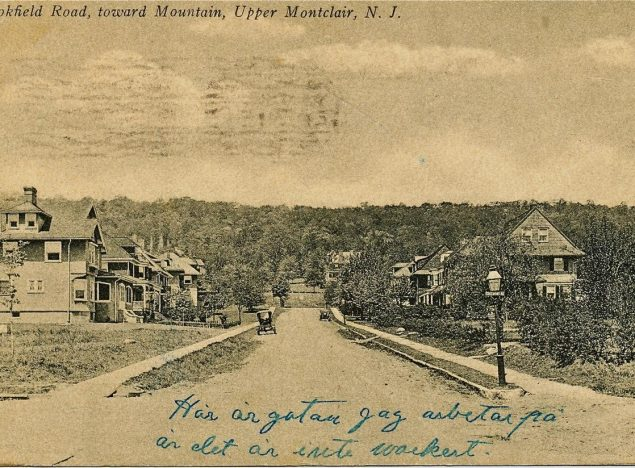 Postcard of Brookfield Road in 1911